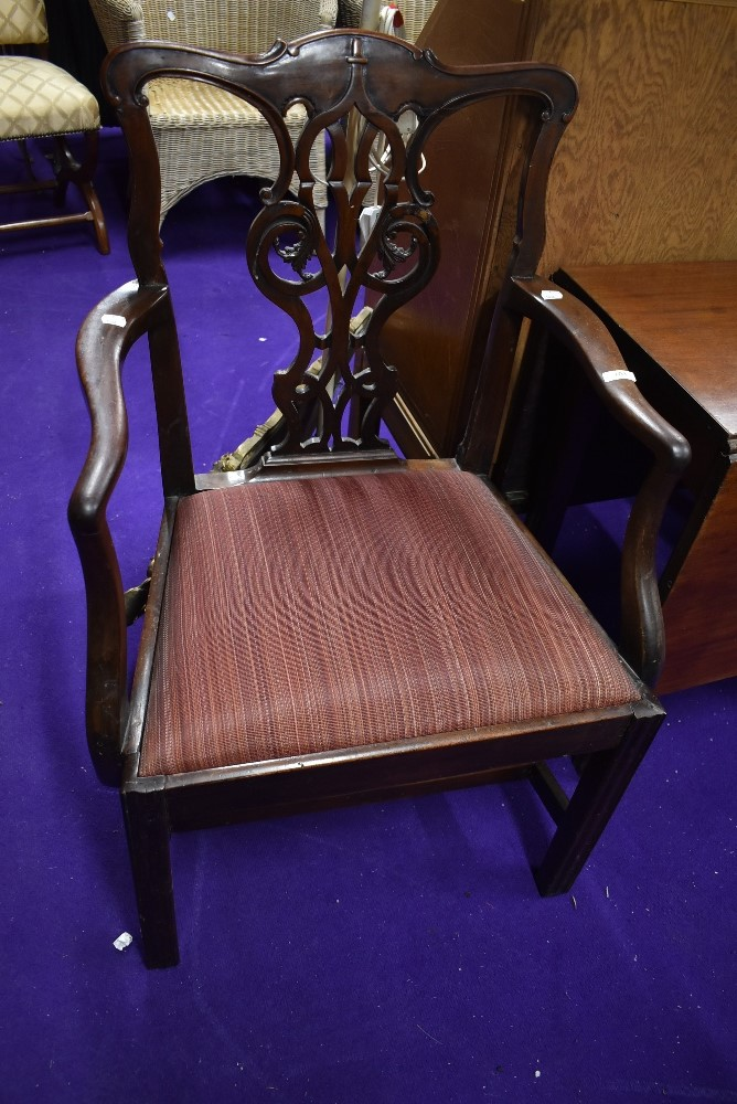 A 19th Century mahogany carver chair, Hepplewhite style