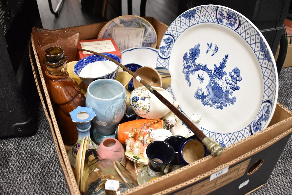A selection of ceramics including Chinese style Beswick and Doulton