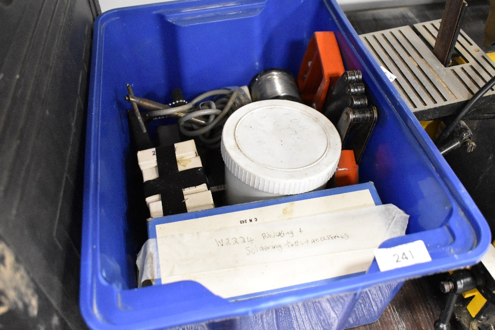 A selection of riveting and soldering accessories and items