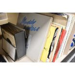 A selection of vinyl records and Lp's including 45rpm EP's