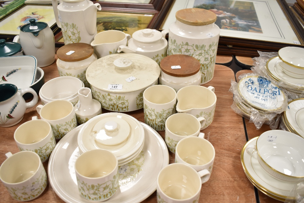 A selection of tea and table wares by Hornsea Pottery in the Fleur design