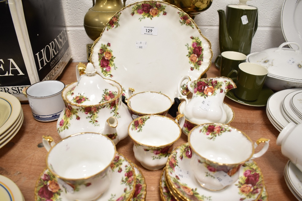 A part tea service by Royal Albert in the Old Country Roses design