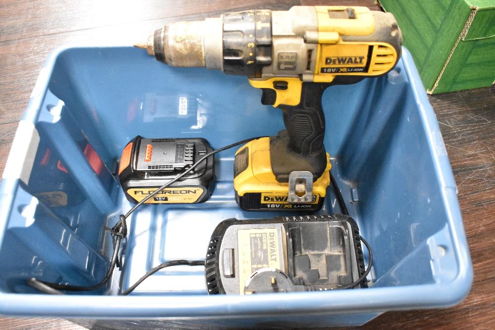 A Dewalt battery powered drill driver