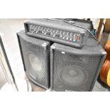 A Pulse 100watt speaker and a four channel Pulse amplifier
