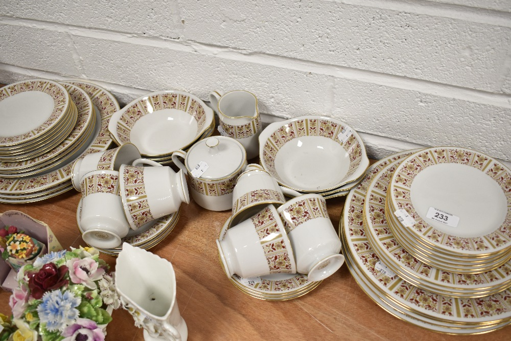 A selection of tea cups saucers and cake plates by Melville Sri Lanka
