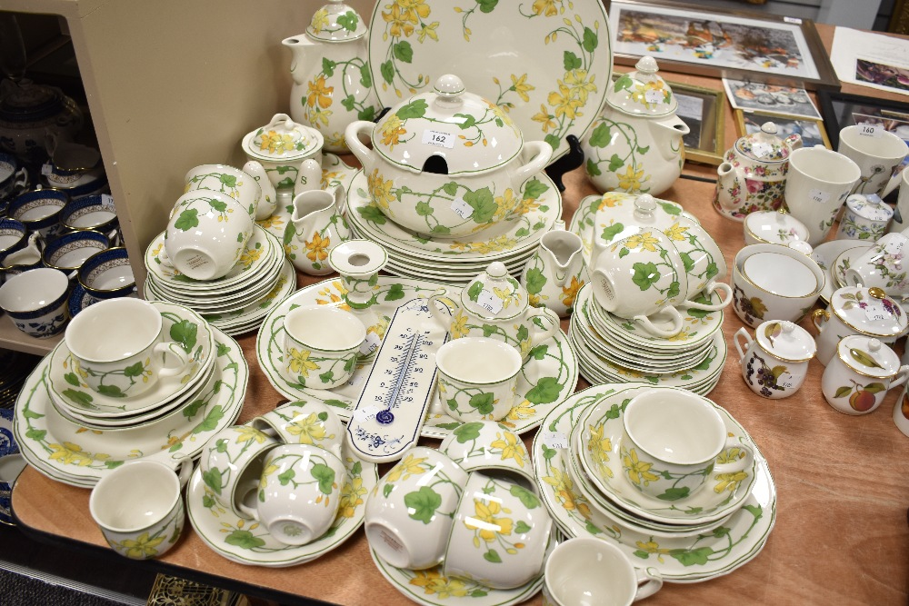A fine part tea and dinner service by Villeroy and Boch in the Geranium design all pieces seeing