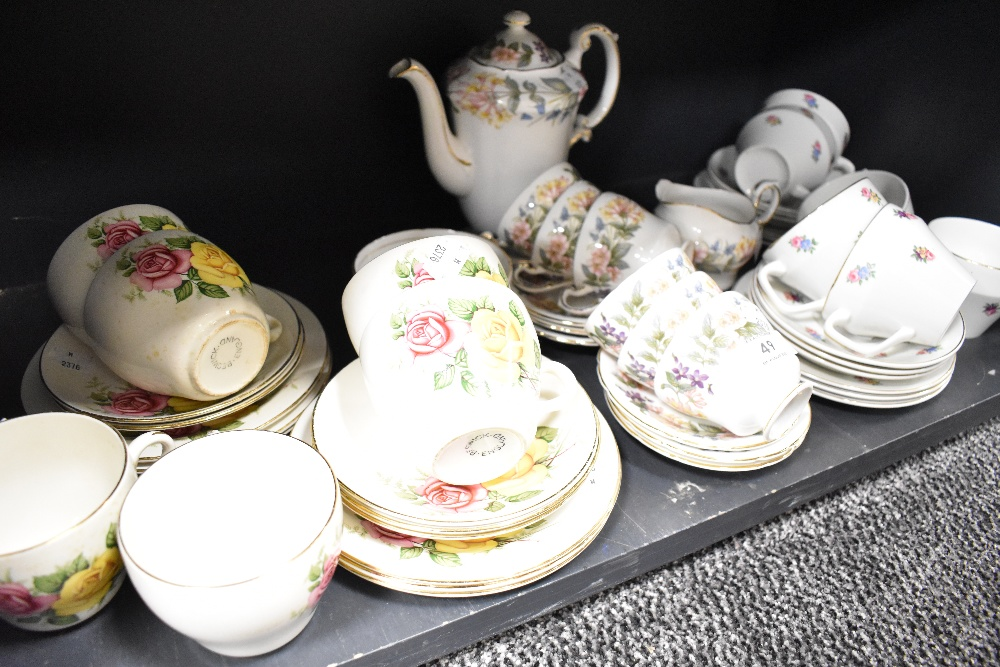 A selection of tea cups and saucers Beswick and Paragon country lane