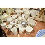 A selection of tea and dinner wares by Portmeirion and Royal Worcester Evesham