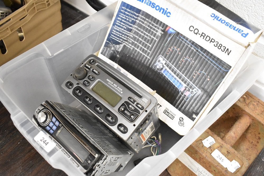 Three in car radio stereo systems
