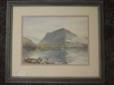 A watercolour, Eric Holmes, Fleetwith Pike Buttermere, signed and dated (19)94, 29 x 32cm, plus
