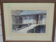 A watercolour, D R Mounsey, Town End Barn, 20 x 30cm, plus frame and glazed