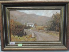 An oil painting on board, R Martin Tomlinson, Ulpha Bridge Duddon valley, signed and attributed