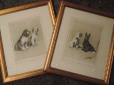 A pair of re-prints, after Cecil Aldin, dog interest, The Two Scamps, and The Two Sportsmen, 25 x