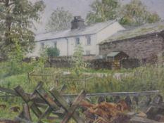 A watercolour, Jill M Aldersley, Wet Day Watendlath, signed, 27 x 36cm, plus frame and glazed