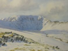 A watercolour, Jill M Aldersley, Helvellyn, signed, 36 x 49cm, plus frame and glazed