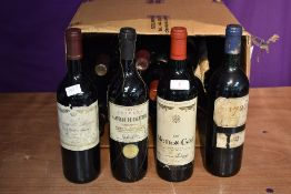 Fifteen assorted Red Wines from around the world including Baron De Rothschild 1985 Mouton-Cadet,