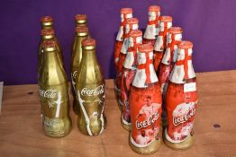 Fourteen bottles Coca-Cola promoting World Cup 2002 featuring England players and World Cup 2010
