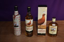 Four bottles of Famous Grouse Scotch Whisky, 40% vol 70cl in card box, 40% vol 70cl x2 and 43% vol