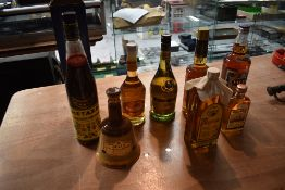 A collection of World Rum, Brandy and Liqueur including Metaxa 1L 40% vol with original box, De