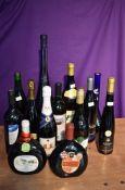 Thirteen bottles of Wine from around the world including Niersteiner Gutes Domtal 0.75L 9% vol, La