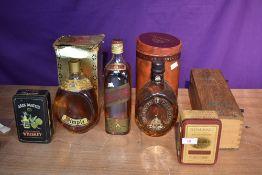 Two bottles of Dimple De Luxe Scotch Whisky, John Haig & Co Ltd 26 2/3 Fl Ozs 70 Proof in original