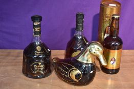 Two bottles of Carlos I Brandy, Imperial 38% vol, possibly 75cl and Gran Reserva 70cl 40% vol