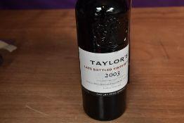 A bottle of Taylor's Late Bottled Vintage Port 2003, 20% vol 750ml, in presentation box