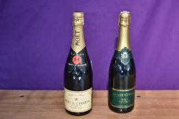 A bottle of Moet & Chandon Brut Imperial Champagne, 75cl 12% Vol and a bottle of Chardonnay Brut