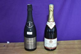 Two bottles of Champagne, Freixenet 2007 75cl 12 vol and Champagne Jardin 750ml 12 % vol