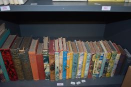 Children's and related. A shelf. Includes numerous dust wrappered novels, myths and legends, etc. (