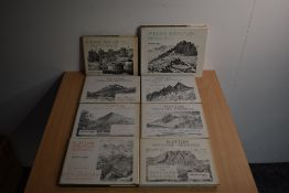 Wainwright. Scottish Mountain Drawings, volumes 1-6, all appear 1st editions in dust wrappers. With;