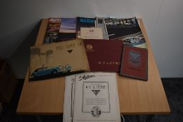 Motoring. A small selection of ephemera. Includes brochures etc for 'Alvis Car & Engineering Co.
