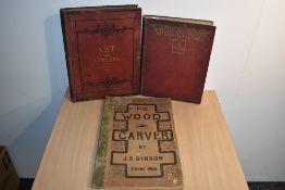 Art & Applied Art. Gibson, J. S. - The Wood Carver. Edinburgh: 1906, 3rd edition. With; Comyns Carr,