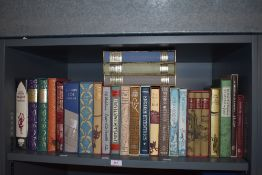 Folio Society. A shelf - Literature and related. All in slipcases. Includes; Siegfried Sassoon;