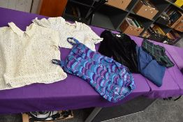 A collection of predominantly 1940 and 50s ladies clothing,AF for spares or repairs.