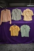 A collection of ladies 1940s and 50s blouses.