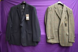 A gents Skopes wool blend suit with tags and a Centaur blazer new with tags.