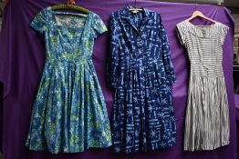 Three stunning 1950s cotton day dresses including California cottons and St Michaels.