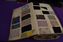 A superb piece of history in the form of a scrapbook, this contains a massive array of fabric