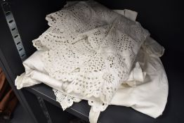 A collection of Victorian / Edwardian corset covers night dresses split leg knickers and similar