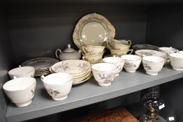 Two part tea services including Royal Doulton Prelude and Crown Staffordshire