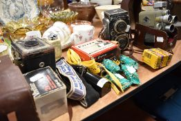 A selection of cameras and super 8mm including Voightlander SuperB and Eumig electric R