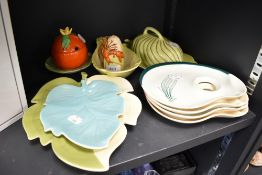 A selection of ceramics by Carltonware including lidded dish and similar