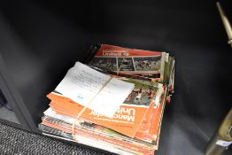 A selection of Manchester United programmes years 1977 up to 1990