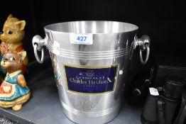 A Charles Heidsieck champagne ice bucket