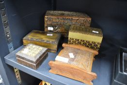 A selection of trinket jewellery and similar boxes and cases