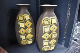 A pair of mid century Brentleigh ware vases.