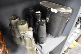 Two pairs of binoculars including Photax 10x50 and Dia Stone 8x 20x50