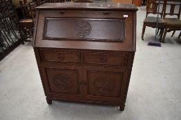 An Oriental hardwood bureau