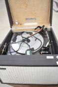 A vintage Hacker portable gramophone player, Gondolier GP42